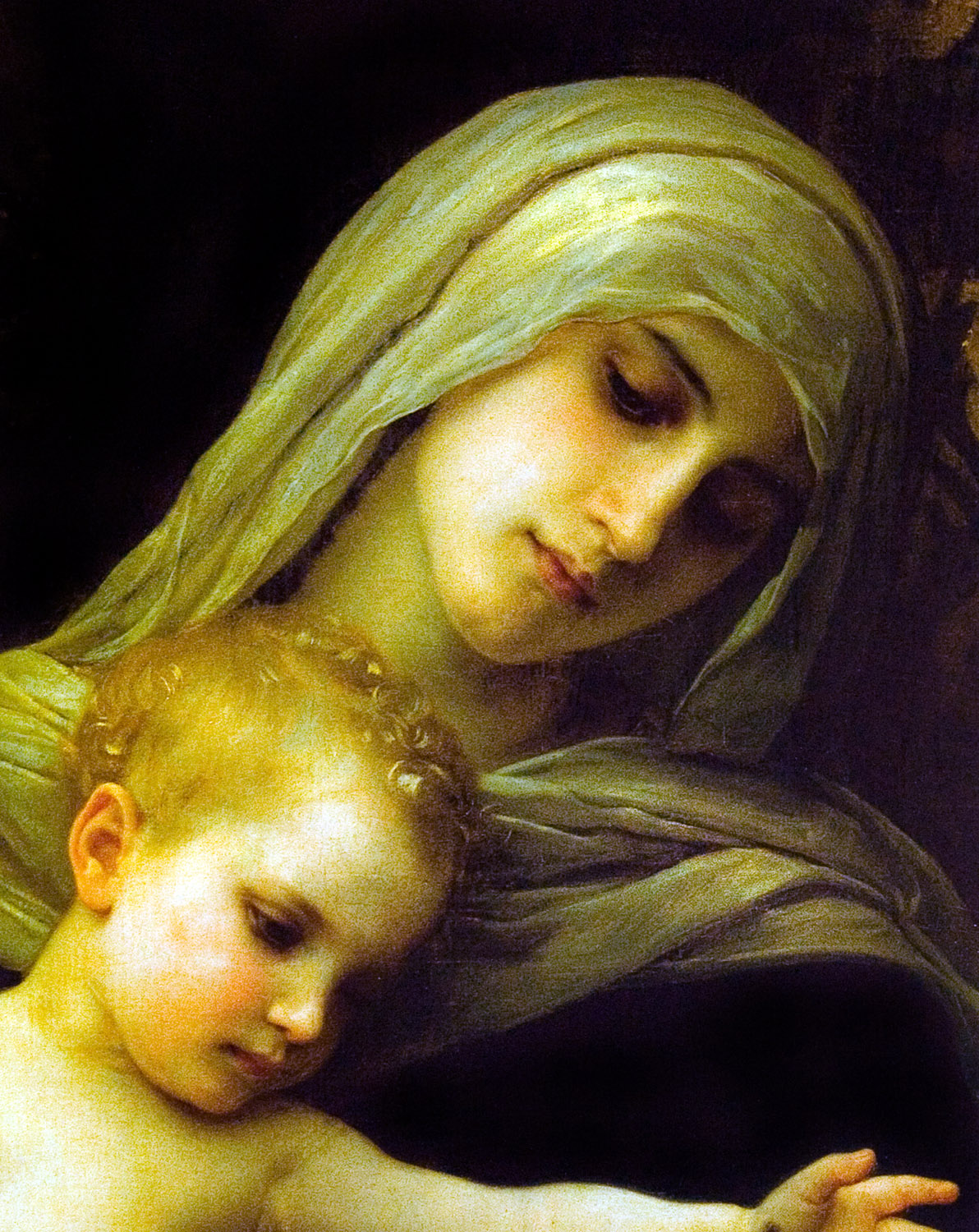 Blessed Mother Mary And Jesus Christmas Bless...