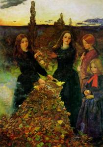 Autumn Leaves (1856), by John Everett Millais. Image courtesy of WikiPaintings