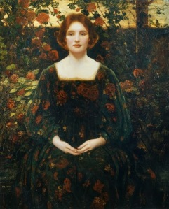 Womanhood, 1925 (oil on canvas) by Mostyn, Thomas Edwin (1864-1930); 127.5x101.5 cm; Private Collection; © Christopher Wood Gallery, London, UK; English,  out of copyright