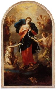 Mary Untier of Knots. Image Courtesy of Wikipedia.